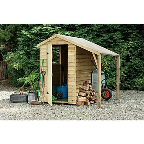 Overlap Shed With Lean To by Overlap Shed With Lean To 6x4ft At Homebase Be