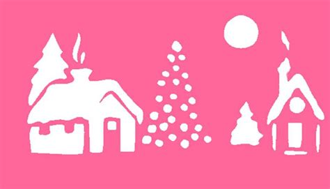 free christmas stencils advent craft ideas for children