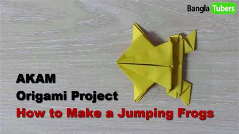 Learn Origami Make A Paper Frog - how to make a jumping frog learn origami