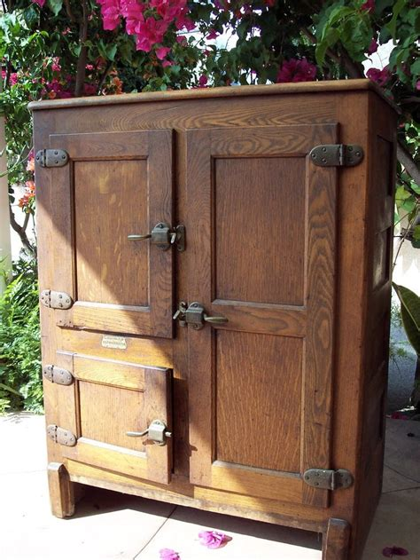 antique ice box doors woodworking projects plans
