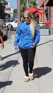 Out And About by Meghan Trainor In Tights Out In Beverly