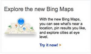 Bing maps also keeps a search history in the left navigation panel