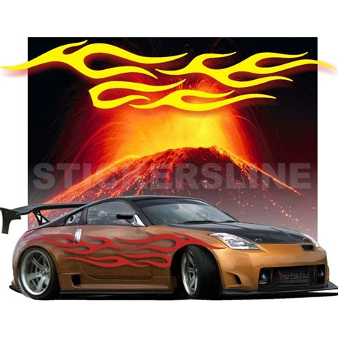 lada effetto fiamma adesivi auto tuning decalcomanie car stickers fiamma 6