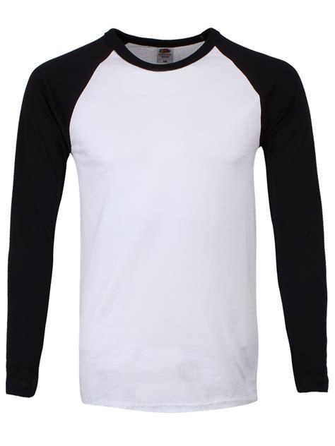 black white shirt mens longsleeve baseball buy
