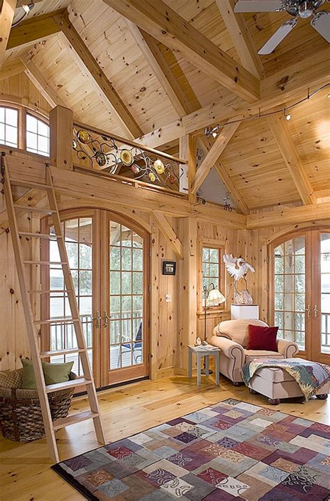 Timber Frame Interiors by Eastern White Pine House By Woodhouse Timber Frame