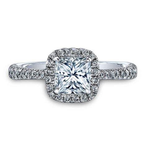 2 50 carat princess cut halo engagement ring