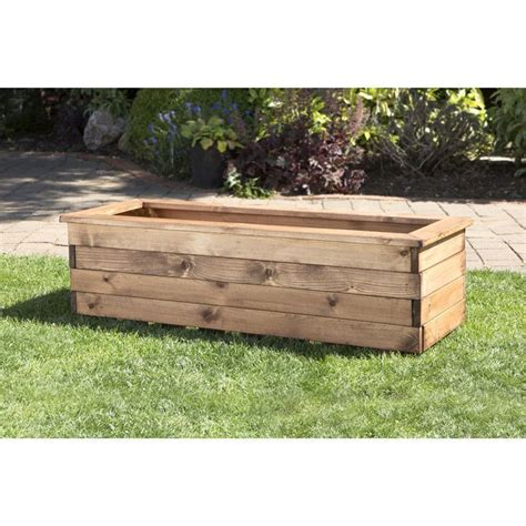 buy planters buy large scandinavian redwood garden planter trough