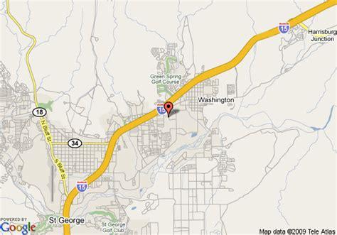 map of st george utah map of country inn suites st george george