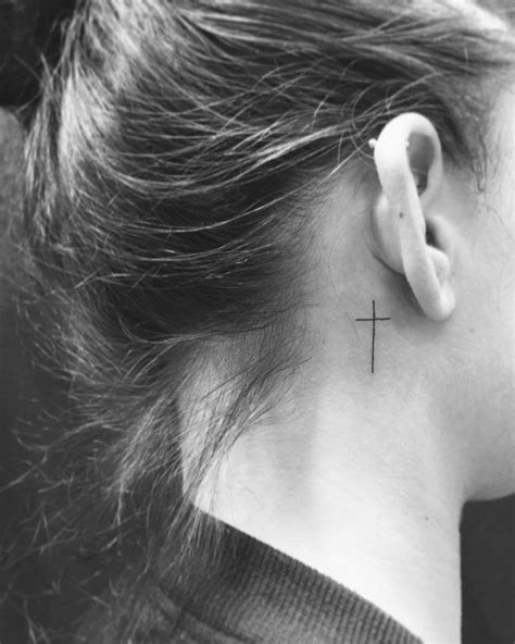 small cross tattoo behind ear 25 best ideas about simple cross on