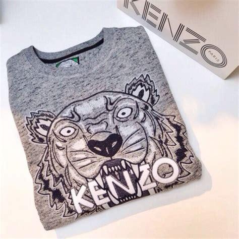 Sweater Hoodie Fashion Month Fw Tour 17 sweater grey kenzo kenzo kenzo sweater