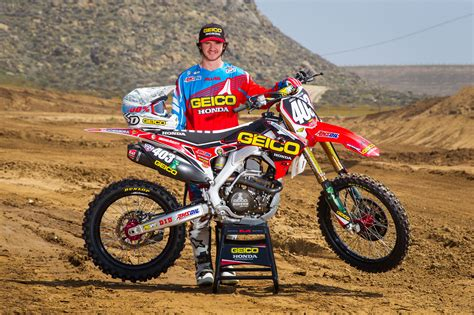 pro national motocross geico honda announces rider lineup for pro motocross