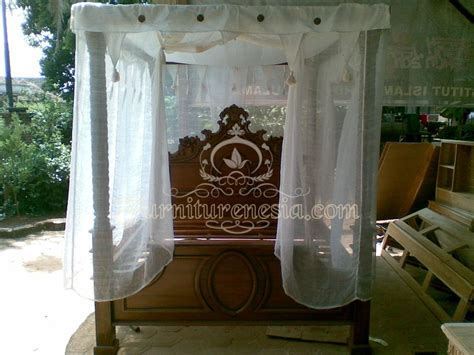 Jual Lu Tidur Romantis tempat tidur pengantin kanopi furniturenesia