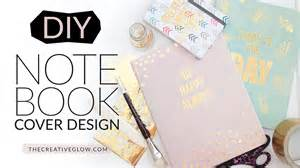 diy design diy notebook cover design gold leaf designer look