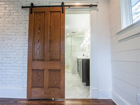 installing a barn door how to install barn doors diy network made
