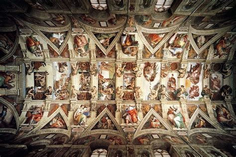 Michelangelo Sistine Ceiling by Sistine Chapel Most Places