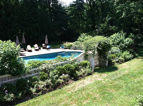 landscaping around a pool whippoorwill pool vernon landscaping corp