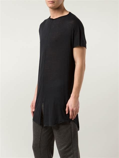 Slit Shirt cedric jacquemyn front slit t shirt in black for lyst