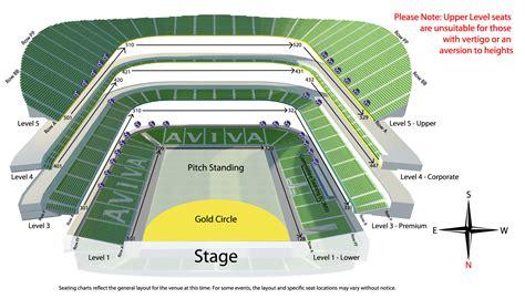 stadium plan aviva stadium