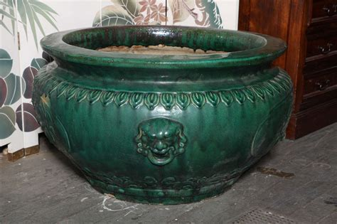 Antique Planters by Antique Large Glazed Ceramic Planters Hunan Province At