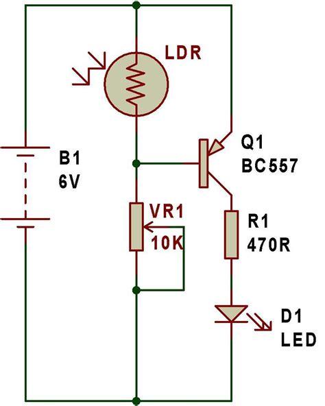light sensor circuit using ldr dark sensor using ldr circuit diagram circuit and