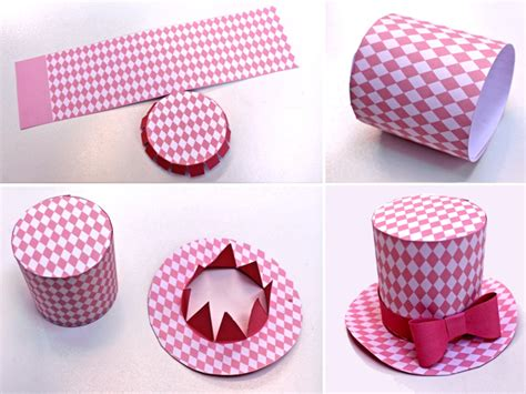 How To Make A Small Hat Out Of Paper - mini top hat 5 diy printable easy to make