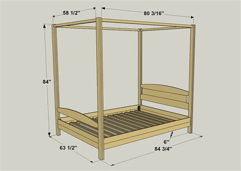 canopy bed plans canopy bed buildsomething com