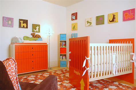 Orange Nursery Decor Custom Wall Janrobinsonart