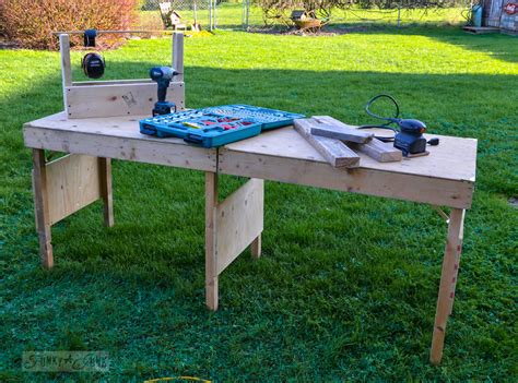 collapsable work bench a portable collapsible workbench every diyer needsfunky