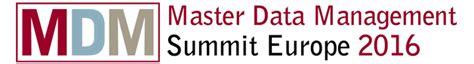 design management master europe master data management summit europe 2016 data