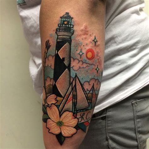 divine tattoo lighthouse tattoos by noelle lamonica machine