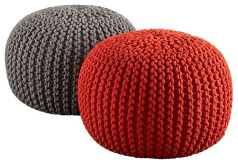 Cb2 Floor Pillow by Knitted Poufs Floor Pillows And Poufs