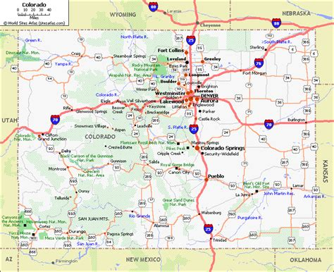 state map of colorado discovering colorado state map