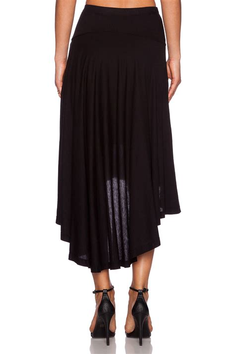 splendid high low maxi skirt in black lyst