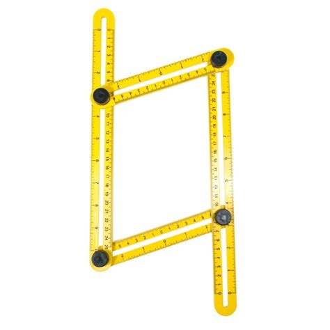 Penggaris 4 Sudut Four Sided Folding Ruler penggaris 4 sudut four sided folding ruler yellow jakartanotebook
