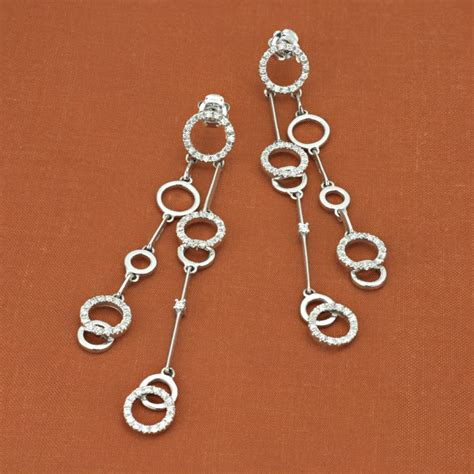 chimento 18k white gold collection dangle