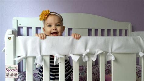 no sew fleece teething crib rail cover tutorial