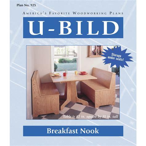 breakfast nook plans shop u bild breakfast nook woodworking plan at lowes