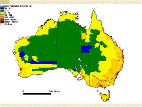 australia population map population density map of australia