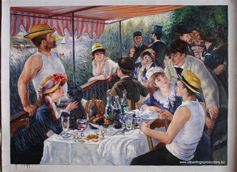 luncheon of the boating party painting quality oil painting reproductions www