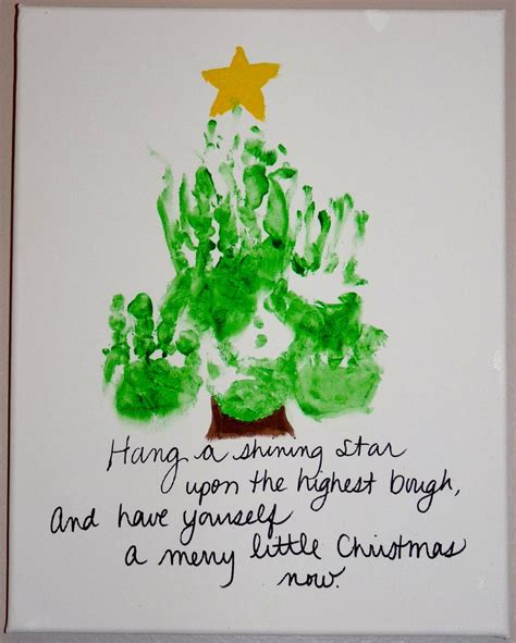 handprint christmas tree christmas and winter children s
