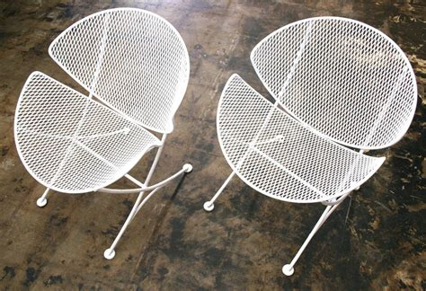 mesh patio chairs in the style of salterini circa 1950 at