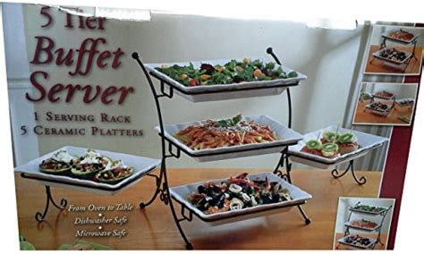 5 tier buffet server 1 serving rack 5 ceramic platters