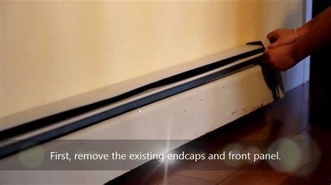 remove baseboard heater baseboarders 174 the easy slip on baseboard heater cover