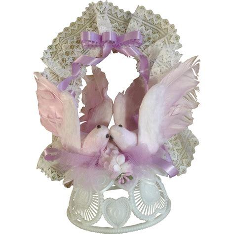 Pink Bird Wedding Angpao vintage amidan s wedding cake topper lavender pink birds 1980 s from gumgumfuninthesun on