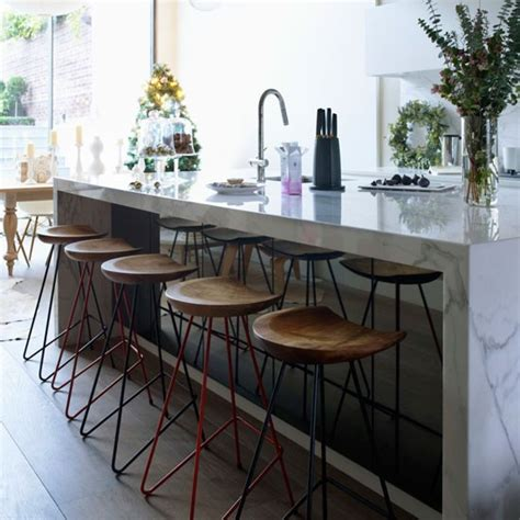 kitchen island with stools uk family kitchen modern kitchen housetohome co uk