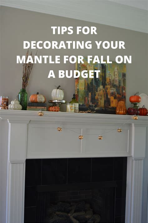 decorate for fall on a budget tips for decorating your mantle for fall on a budget my