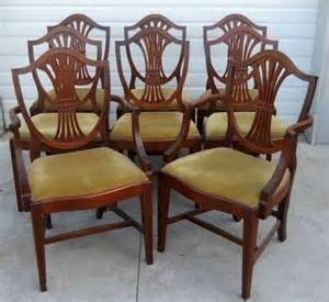 Antique Dining Room Chairs Styles Mahogany Dining Chairs Federal Hepplewhite Style Set Of 8 From Robertsantiques On Ruby
