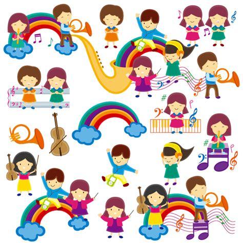 cartoon themes vector cartoon children music theme vector free vector graphic