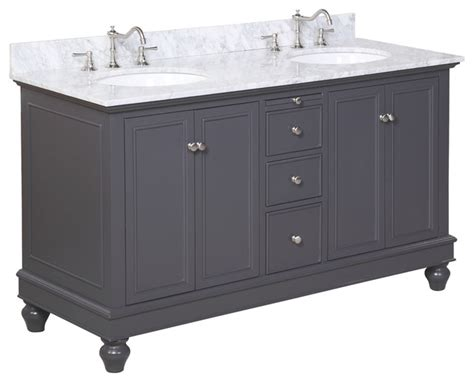 charcoal grey bathroom vanity bella bath vanity carrara charcoal gray 60 quot double