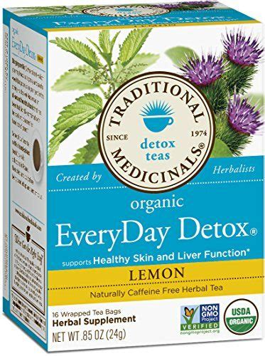 Book Everyday Detox by Traditional Medicinals Organic Everyday Detox Lemon Tea